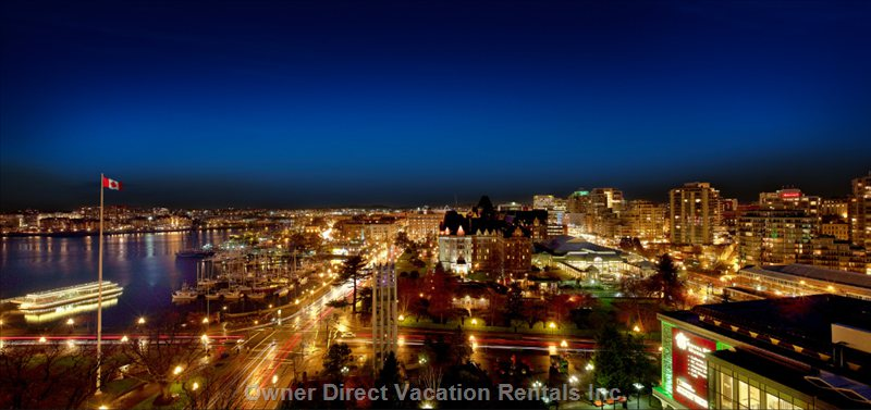 A View of Victoria at Night.