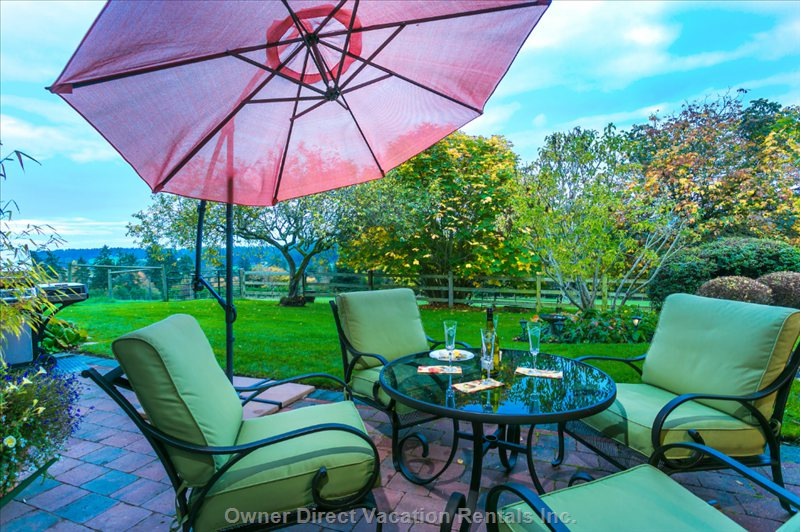 A Closer View of your Private Patio.  Relax and Enjoy the Peaceful Ambiance of Heathwood