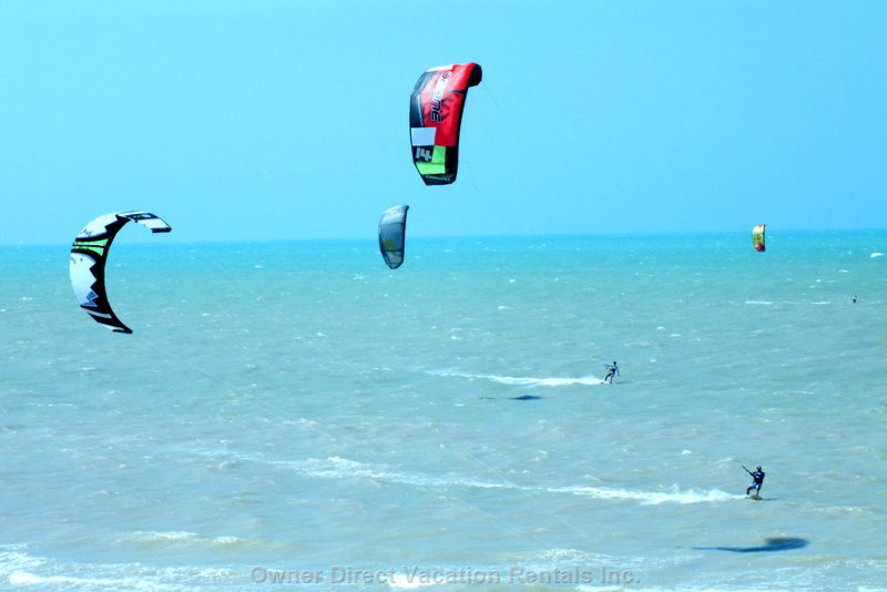 Kite Boarding from Terrace