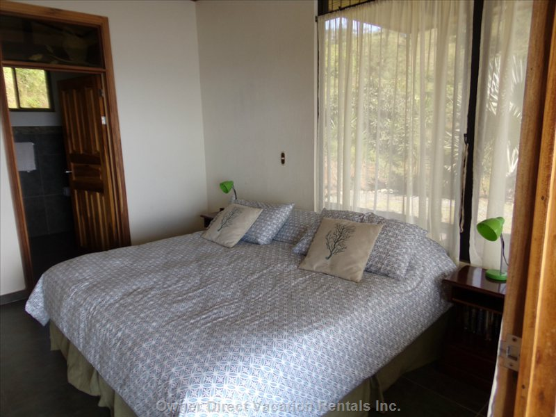 Therapeutic Beds with Special Pillows, Large down Comforters for Cooler Nights, Views Right to the Outdoors. Private Entry to each Br.