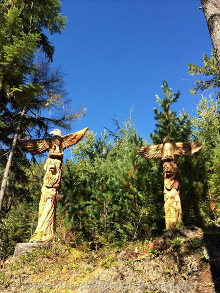 Twin Totems at Blueberry