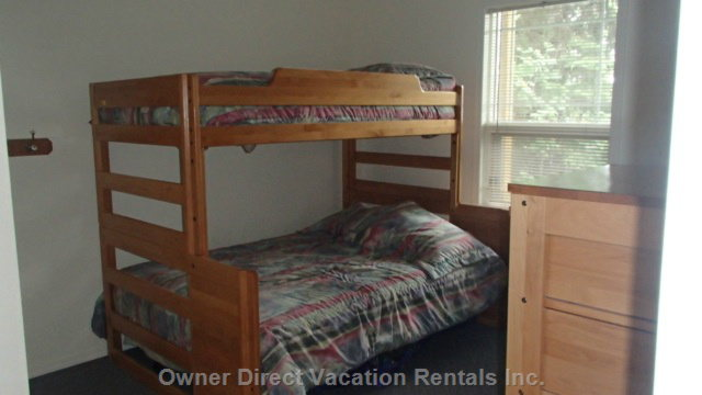 Bedroom with Double Bunk on Bottom - Single on Top