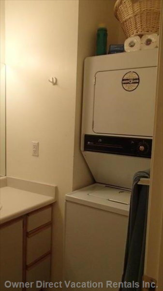 Washer/Dryer inside Washroom