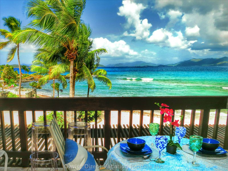 Caribbean Dining on the Balcony