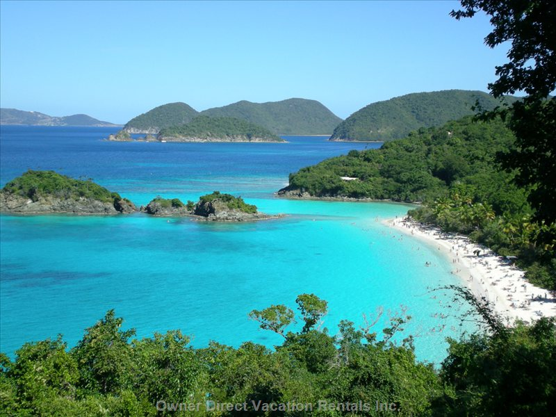 Trunk Bay - one of the most Beautiful Beaches in the World on St. John