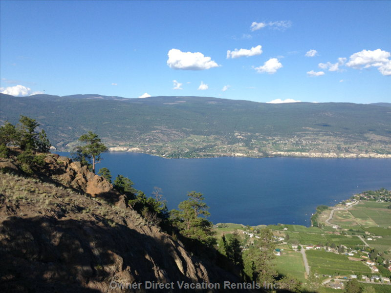 Great Central Location for Exploring the Vineyards of Summerland, Penticton and Naramata.