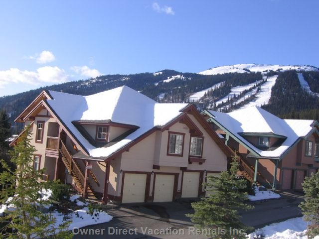 Centrally Located Townhouse Ski in Ski with Gorgeous View! - Sun Peaks Furnished Rental #146559