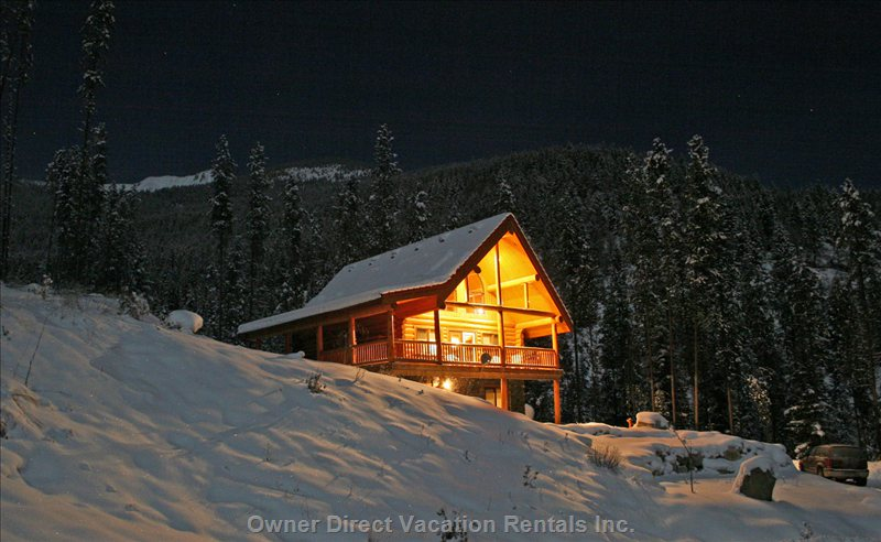 Luxury cedar log chalet directly across the Panorama Mountain Village, ID#54254