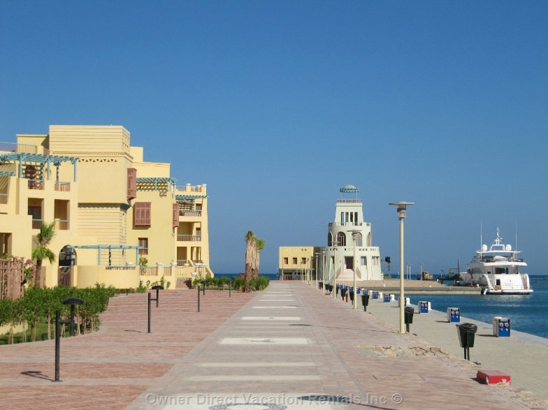 Luxury marina waterfront apartment in El Gouna, Red Sea, Egypt