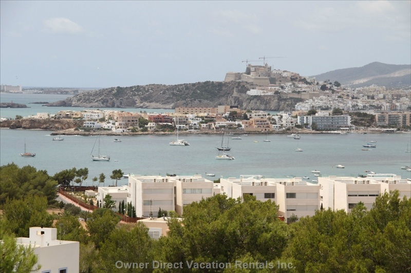 Modern villa with spectacular sea and city view of Ibiza, ID#205041