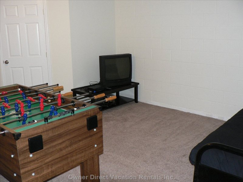 Game Room - with ps2 and Full Size Double Futon