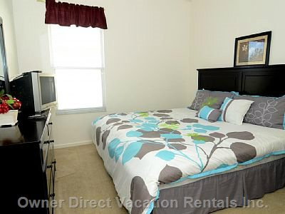 Master Suite 2 with King Size Bed and Tv