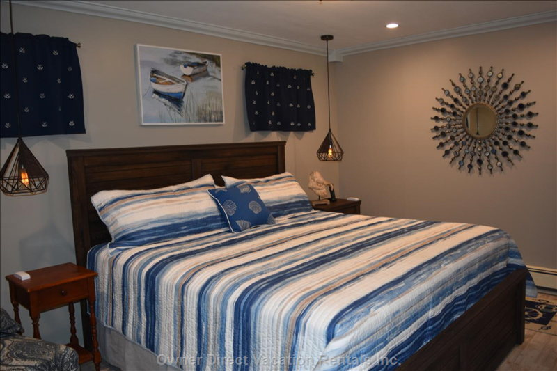 Fourth King Bedroom in-Law Suite is on the Lower Level Similar to the other Three it has a 45 Inch Hdtv with Cable.