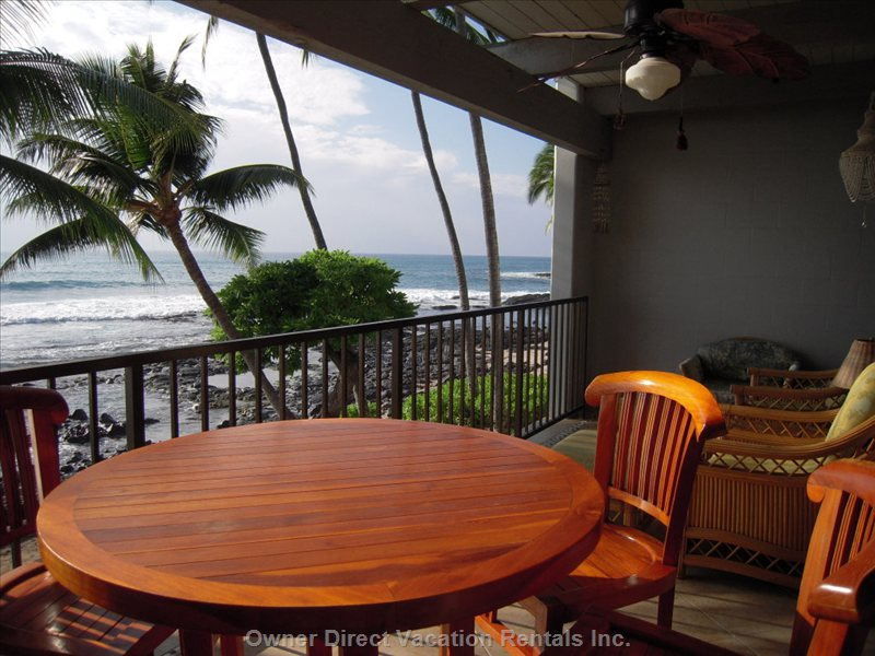 Fabulous Lanai on the Ocean - Dine on the Ocean.
