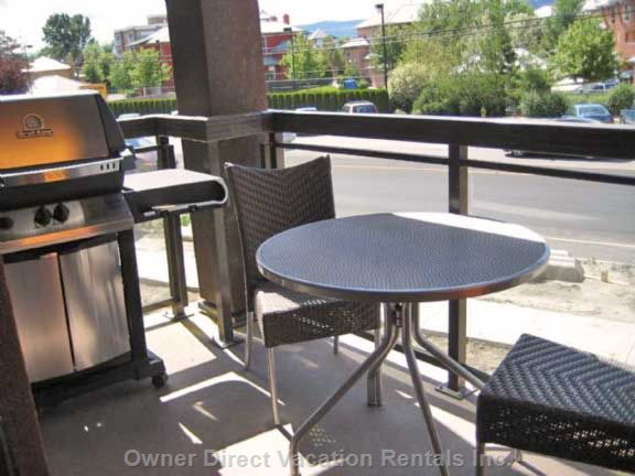 Private Patio Overlooking Okanagan Lake across the Street