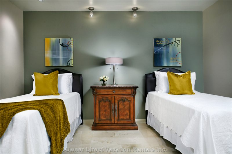 All Bedrooms with Twin Beds Can be Converted to King Beds