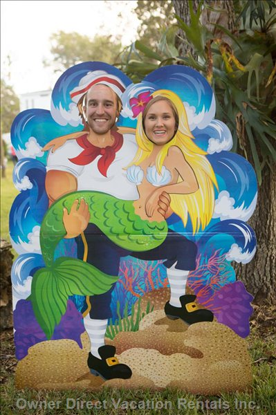 Mermaid and Pirate Photo Booth!!