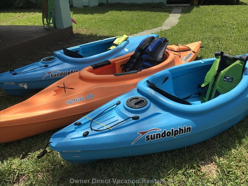 5 Adult Single Kayaks Included!