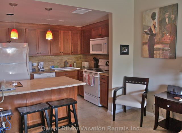 Quality Supplies are well Organized in the Kitchen.  Renovated with Top Notch Appliances Including a Steam Cleaning Dishwasher