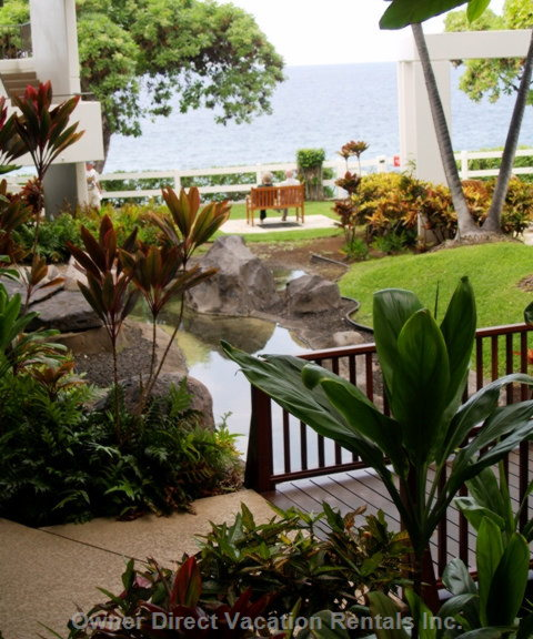 Gardens and Waterfalls at the Sea Cliff