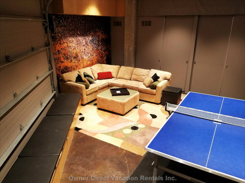 For you Tennis Players, we Have ... No, we Don't Have Tennis Courts.  We Have a Pro Ping Pong Table.