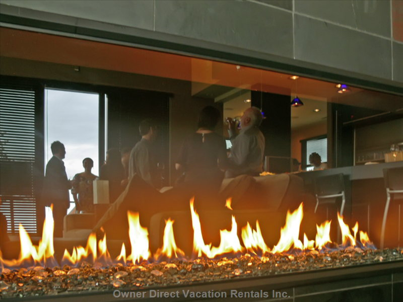 Crescendo's Fireplace is Truly Stunning, but It's about the Atmosphere it Creates, which is Infectious.