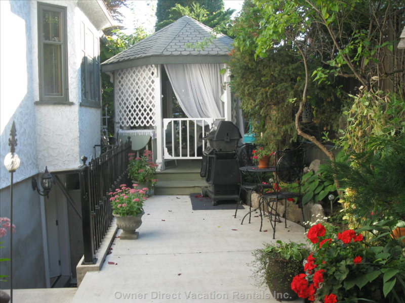 Private Outdoor Space Includes Bbq and Gazebo