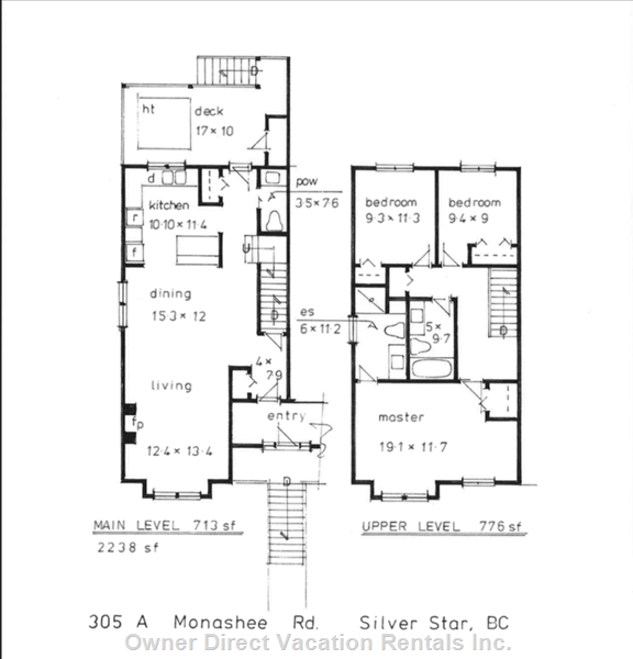 Main and Upper Level Floor Plans