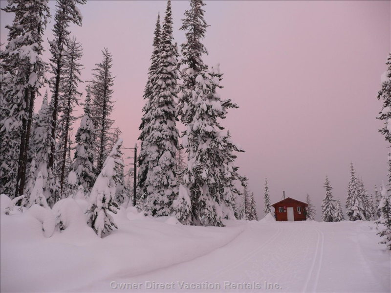 Alpenglow on the Nordic Trails