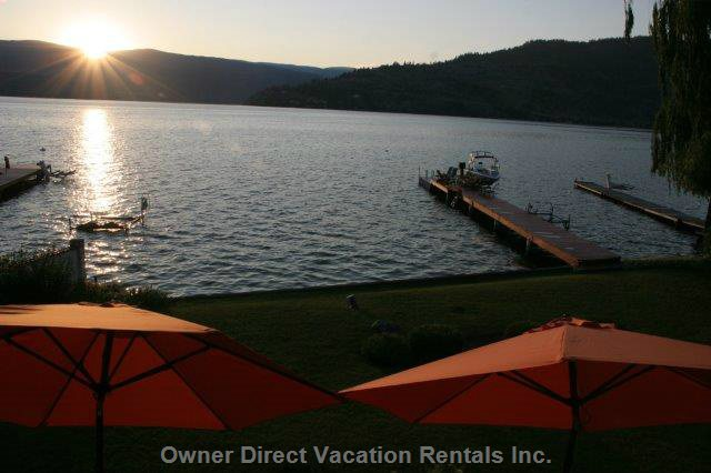 Watch the Sunset from the Front Deck Or the Dock Every Night !