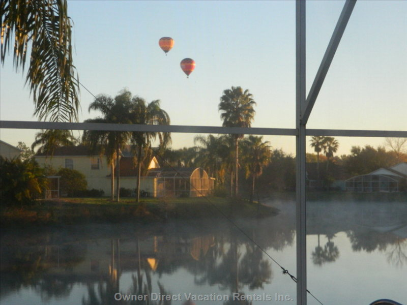 Early Morning Balloons Passing Close by