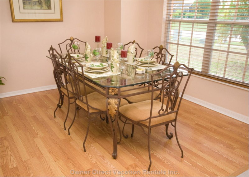 Dining Room - the Formal Dining Area with its Beautiful Table Seats Six and is Sure to Set the Scene for those Special Meals.