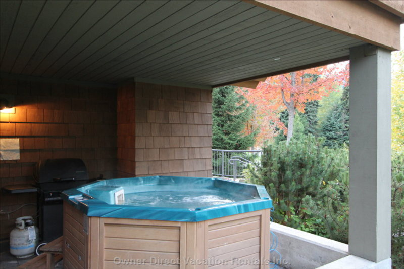 Deck with Private Hot Tub