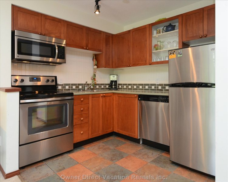 New Stainless Steel Appliances in the Kitchen