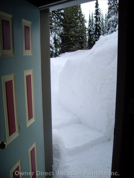 Chalet Ski Path from Ski Locker - Slip on your Boots, Step into your Skis, and off to the Ski Runs!